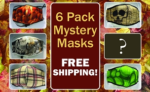 Printed Masks - Mystery 6 Pack - Free Shipping!